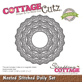 CottageCutz - Nested Stitched Doily Set
