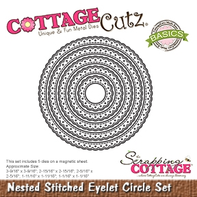 CottageCutz - Nested Stitched Eyelet Circle Set