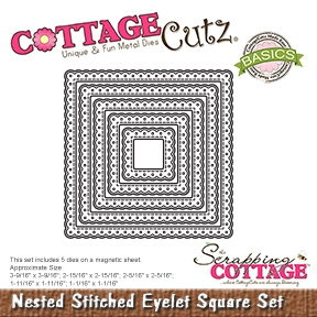CottageCutz - Nested Stitched Eyelet Square Set