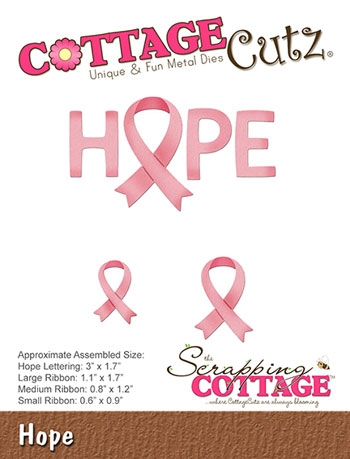 Happymade - CottageCutz Die - Hope - CC-391