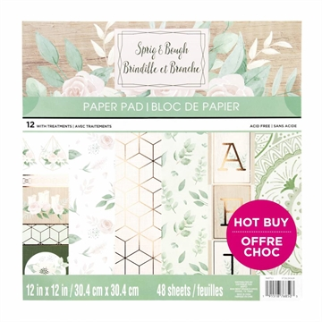 "Happymade - Craft Smith - Paper Pad - 12x12"" - Sprig & Bough (MPP0427)"