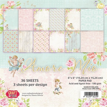 "Happymade - Craft & You Design - Paper Pad - 6x6"" - Amore Mio (CPB-AM15)"