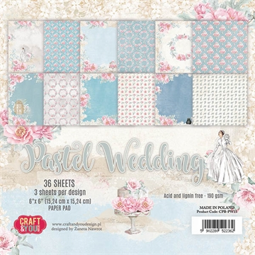 "Happymade - Craft & You Design - Paper Pad - 6x6"" - Pastel Wedding (CPB-PW15)"