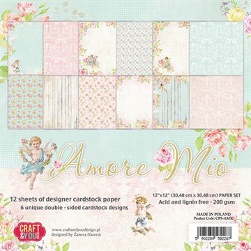 "Happymade - Craft & You Design - Paper Pad -12x12"" - Amore Mio (CPS-AM30)"