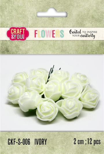 Happymade - Craft & You Design - Foam Flowers - Ivory (CKF-S-006)