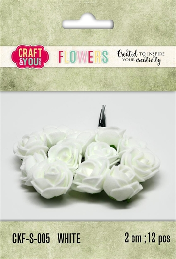Happymade - Craft & You Design - Foam Flowers - White (CKF-S-005)