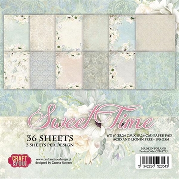 "Happymade  Craft & You Design - Paper Pad - 6x6"" - Sweet Time (CPB-ST15)"