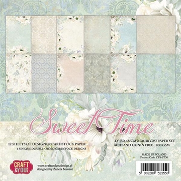 "Happymade - Craft & You Design - Paper Pad - 12x12"" - Sweet Time (CPS-ST30)"