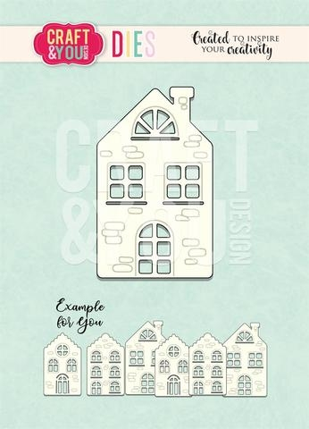Happymade - Craft & You Design - Die - House (CW100)
