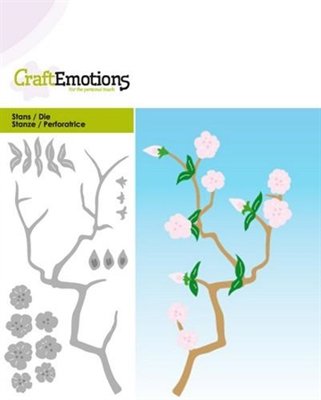 Happymade - Craft Emotions - Die - Branch With Blossoms - 0187