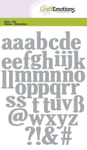 Happymade - Craft Emotions - Die - Lowercase Alphabet - 0502