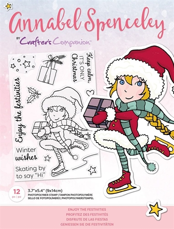 Happymade - Crafter's Companion - Clear Stamp - Annabel Spencely - Enjoy The Festivities (AS-STP-ENJIES)