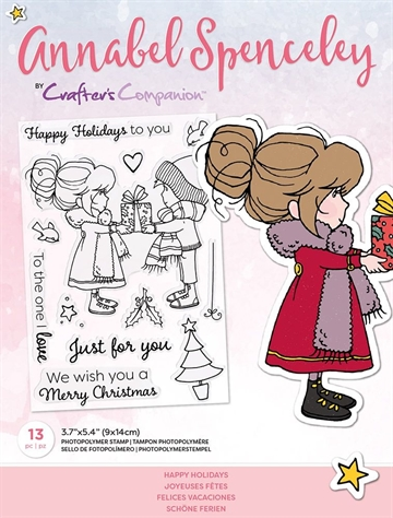 Happymade - Crafter's Companion - Clear Stamp - Annabel Spencely - Happy Holidays (AS-STP-HAPAYS)