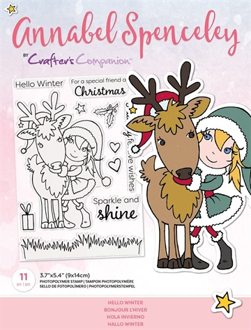 Happymade - Crafter's Companion - Clear Stamp - Annabel Spencely - Hello Winter (AS-STP-HELTER)