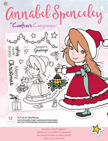 Happymade - Crafter's Companion - Clear Stamp - Annabel Spencely - Making Spirits Bright (AS-STP-MAKGHT)