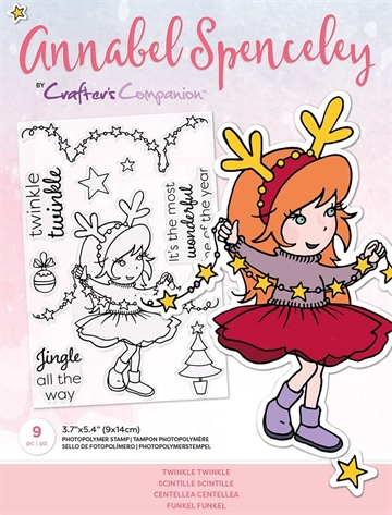 Happymade - Crafter's Companion - Clear Stamp - Annabel Spencely - Twinkle Twinkle (AS-STP-TWIKLE)