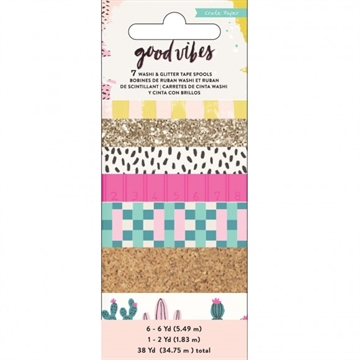 Happymade - Crate Paper - Washi Tape - Good Vibes (344318)