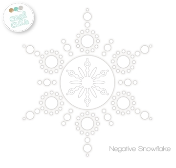 Happymade - Create A Smile - Die - Negative Snowflake