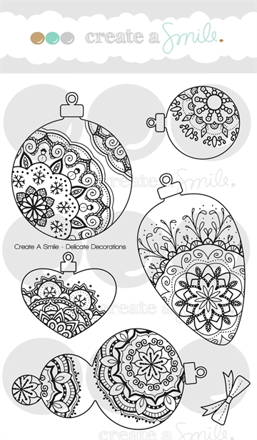 Happymade - Create A Smile - Clear stamp - Delicate Decorations