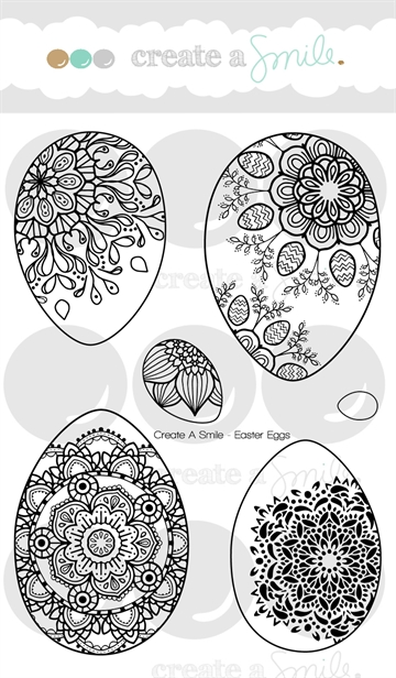 Happymade - Create A Smile - Clear stamp - Easter Eggs