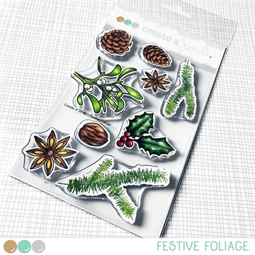 Happymade - Create A Smile - Clear stamp - Festive Foliage