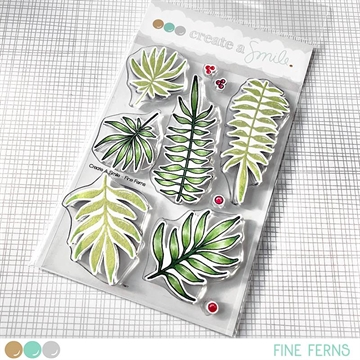 Happymade - Create A Smile - Clear stamp - Fine Ferns