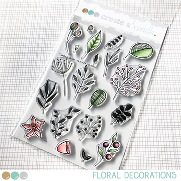 Happymade - Create A Smile - Clear stamp - Floral Decorations