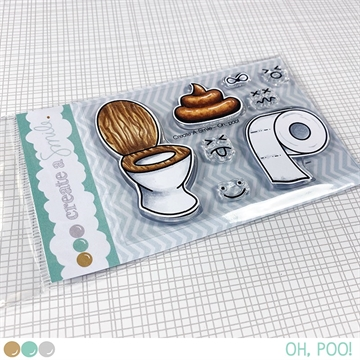 Happymade - Create A Smile - Clear stamp - Oh, Poo!