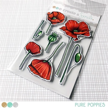 Happymade - Create A Smile - Clear stamp - Pure Poppies
