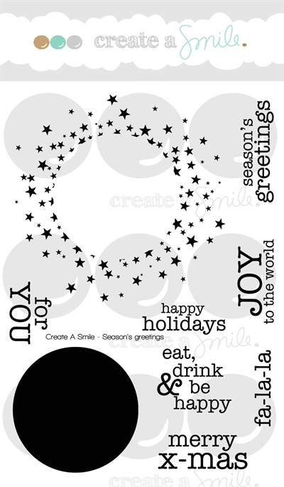 Happymade - Create A Smile - Clear stamp - Season\'s Greetings