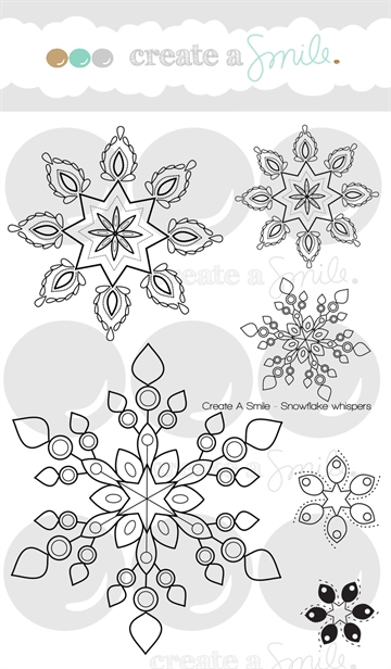 Happymade - Create A Smile - Clear stamp - Snowflake Whispers