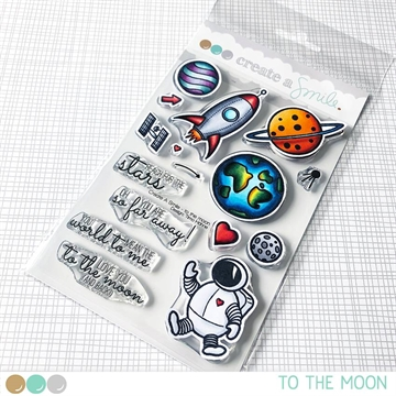 Happymade - Create A Smile - Clear stamp - To The Moon