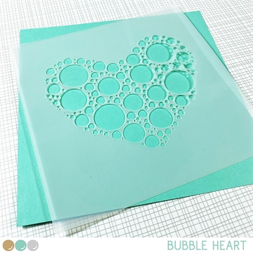 Happymade - Create A Smile - Stencil - Bubble Heart