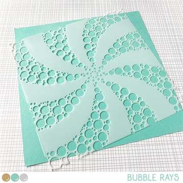 Happymade - Create A Smile - Stencil - Bubble Rays