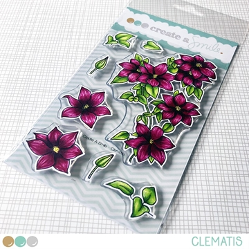 Happymade - Create A Smile - Clear stamp - Clematis