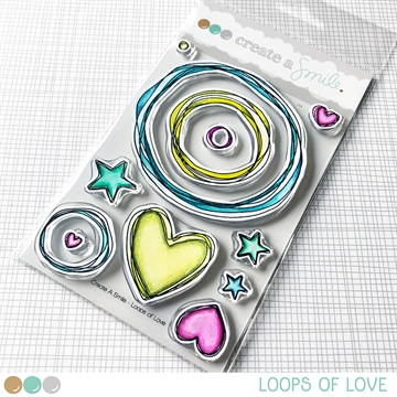 Happymade - Create A Smile - Clear stamp - Loops Of Love