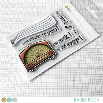 Happymade - Create A Smile - Clear stamp - Radio Rock
