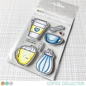 Happymade - Create A Smile - Clear stamp - Coffee Collection