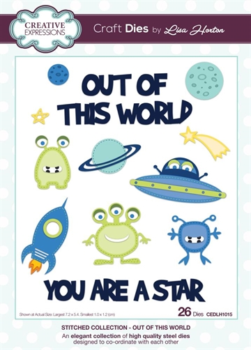 Creative Expressions - by Lisa Horton - Stitched collection - Out of this World (CEDLH1015)