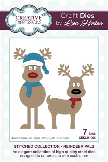 Creative Expressions - by Lisa Horton - Stitched collection - Reindeer pals (CEDLH1006)