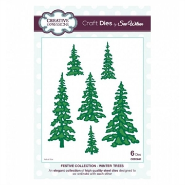 Creative Expressions - by Sue Wilson - Festive collection - Winter trees (CED3041)