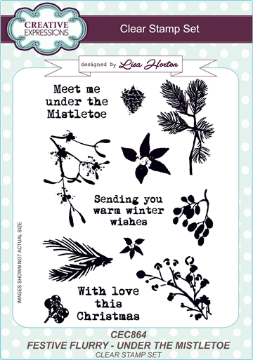 Creative Expressions - Clear stamp set - Festive flurry - Under the mistletoe - CEC864