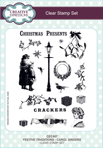 Creative Expressions - Clear stamp set - Festive traditions - Carol singers - CEC867