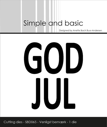 Happymade - Simple and basic - Die - Text Plate - GOD JUL (SBD065)