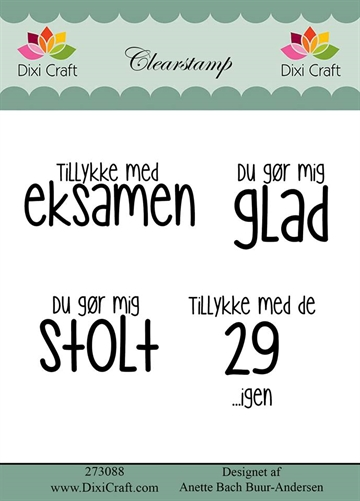 Dixi Craft - Clear stamp - 273088