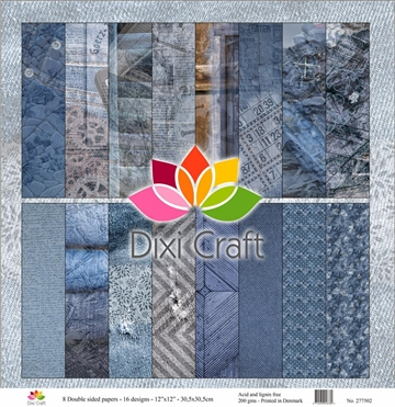 "Happymade - Dixi Craft - Design Papers - 12x12"" - Denim (277502)"