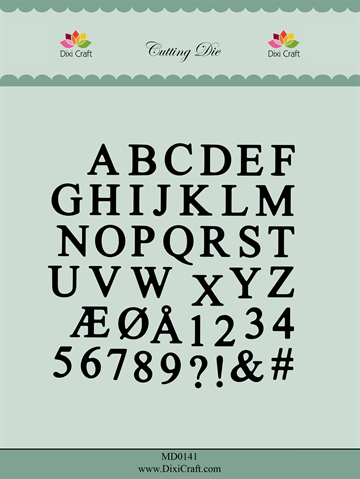 Happymade - Dixi Craft - Die - MD0141 - Alphabet