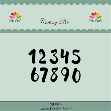 Happymade - Dixi Craft - Die - MD0143 - Brush numbers (small)