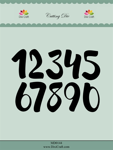 Happymade - Dixi Craft - Die - MD0144 - Brush numbers (big)