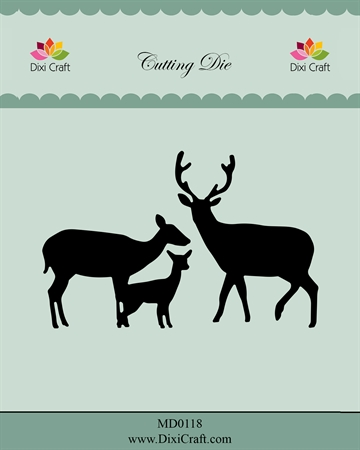 Dixi Craft - Die - MD0118 - Deer family